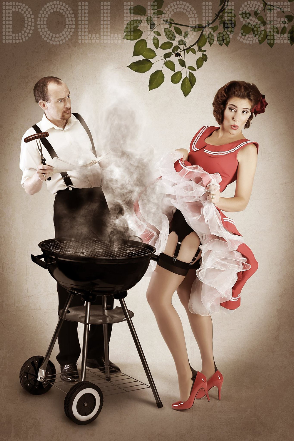 Couple Pinup Photo Shoots by DollHouse Photography Elvgren Themed