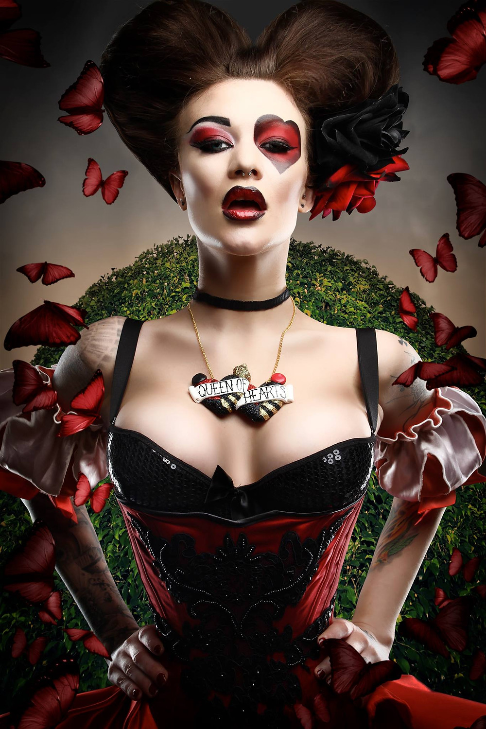 The Queen Of Hearts Disney Villain Cosplay | Model: Becky Holt | By Chrissy Sparks at DOLLHOUSE