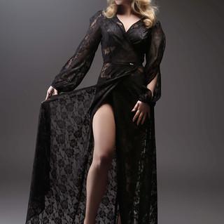 BLACK CAKE CLOTHING STARLET WRAP DRESS S
