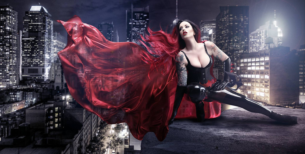 Cosplay Pinup | Model: The Girl With The Joker Tattoos | By Chrissy Sparks at DOLLHOUSE