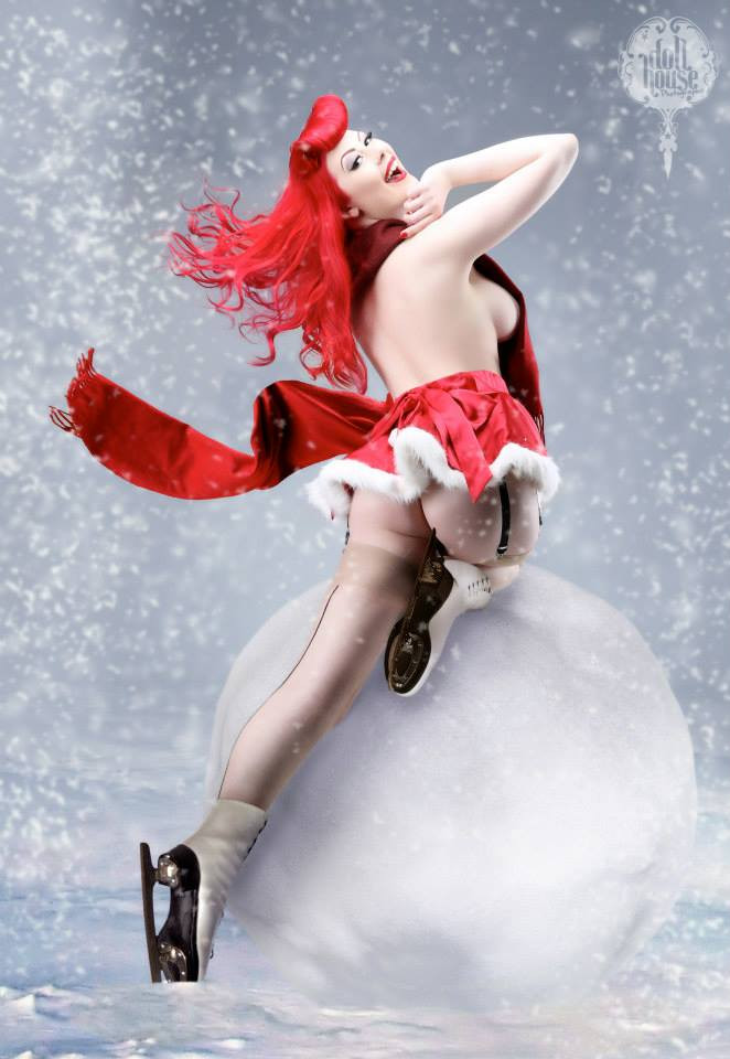 Ava Castle Christmas Pinup by DollHouse Photography