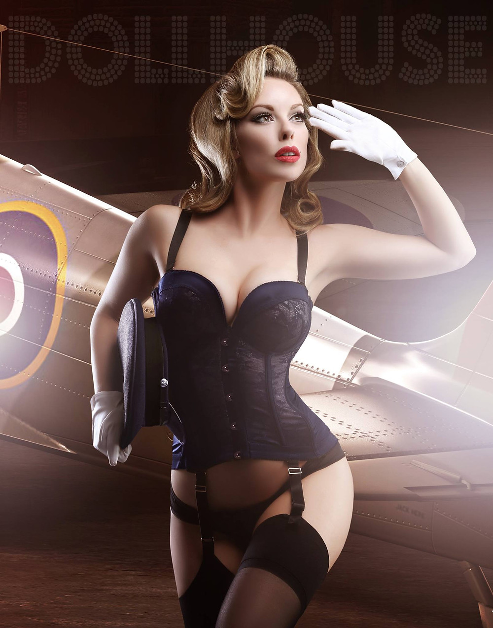 Military Pin-up by Dollhouse Photography - Award Winning Pinup Photographer. Model Heather Valentine.