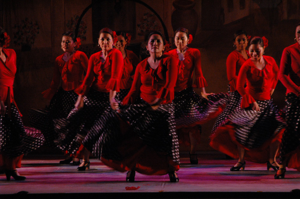 Breathing flamenco in La Luna Roja