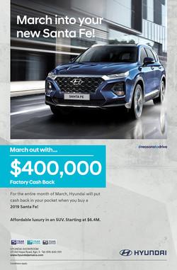 Hyundai Santa Fe 2019 Campaign Flyer