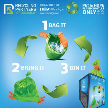 Recycling Partners of Jamaica Mesh Bin