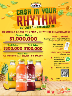 Tropical Rhythms Guyana Poster