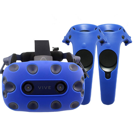 [2 in 1] Gelshell Silicone Skin for HTC Vive Pro : Headset + Controllers