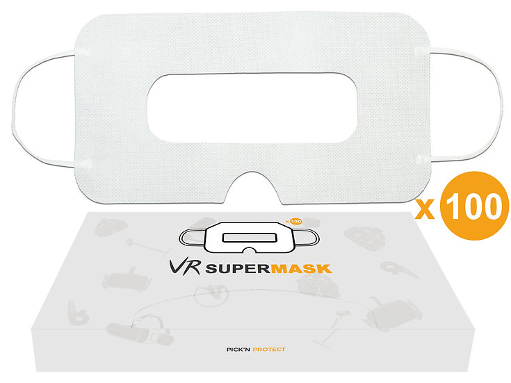 SuperMask VR mask 100pcs for VR Headset - White Eye Face Cover