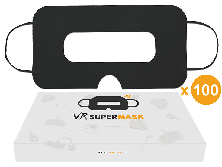 SuperMask VR mask 100pcs for VR Headset - Black Eye Face cover