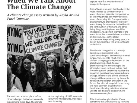 What Do We Talk About When We Talk About The Climate Change