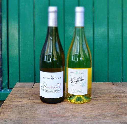 2 bottles of white wine