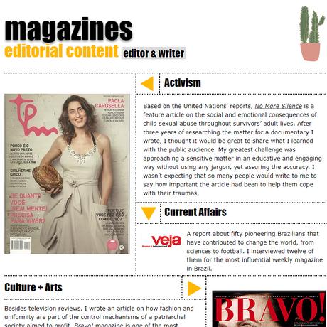Magazines Kika Salvi wrote for