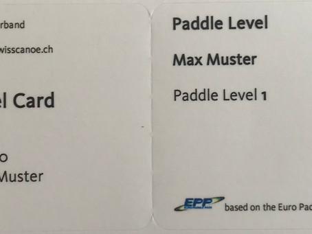 Erste Paddle Level Ausweise verschickt!