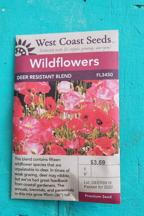 Deer Resistant Mix Wildflowers