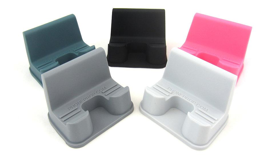 PhoneProp Soft Flexible Universal Fit Smartphone Stand FDA Grade Non-Slip Silico