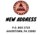 BSO's new mailing address: P.O. Box 1715 Havertown, PA 19083