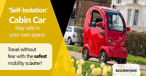 Scooterpac Cabin Car MK 2 Plus Mobility Scooter 8mph