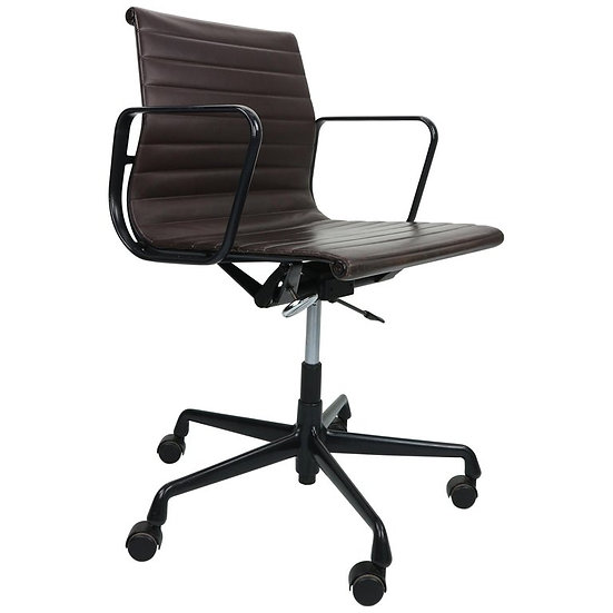 Vintage EA 117 Office Chair by Charles Eames for Vitra in leather