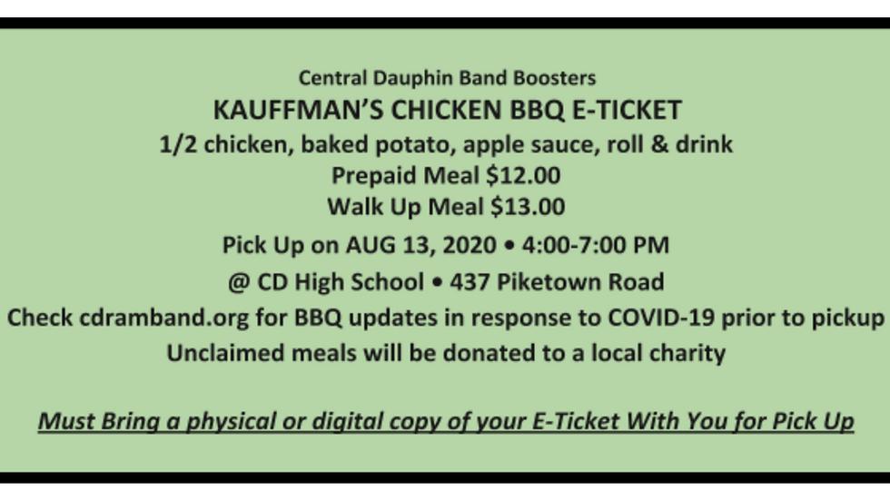 Kauffman's Chicken BBQ E-Ticket