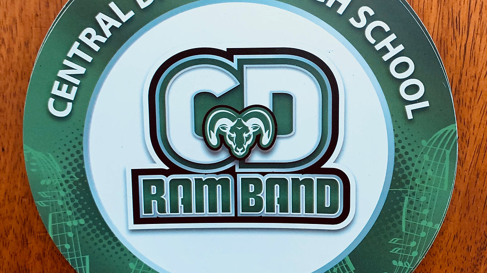 CD Ram Band Car Magnet