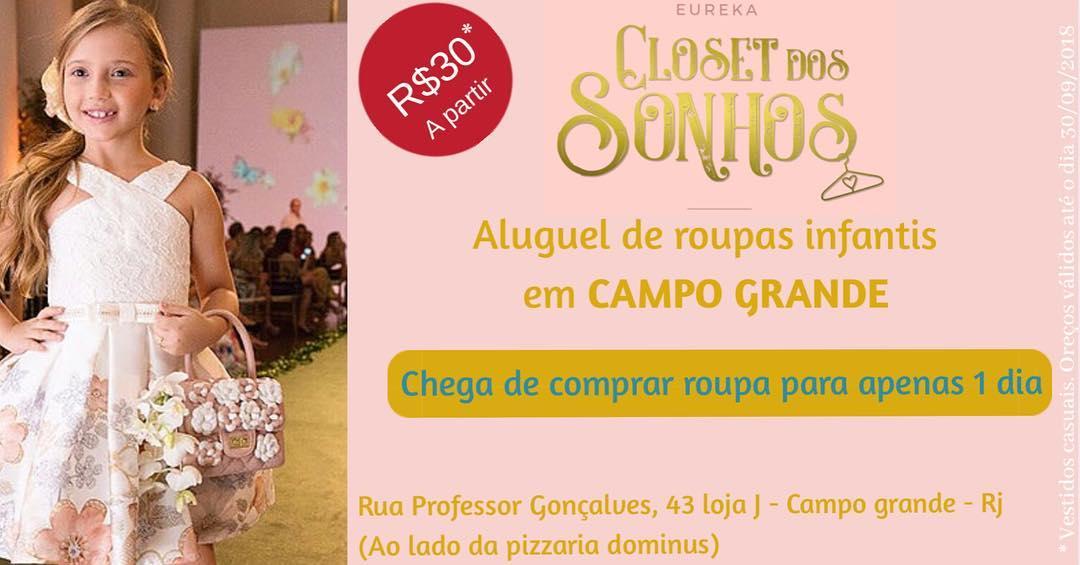 638b3063e Aluguel de roupa infantil - Eureka closet - Campo grande, RJ