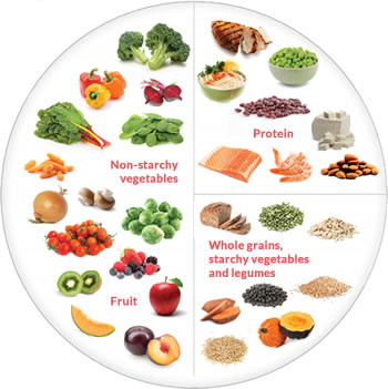 healthy plate portions dietitians australia