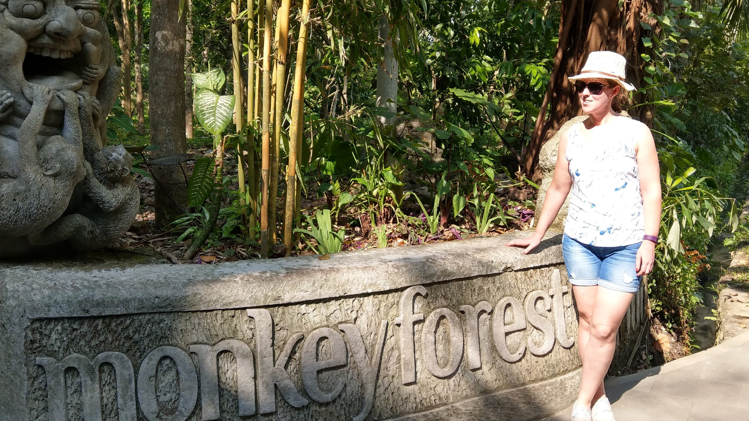 Elizah at the Monkey Forest