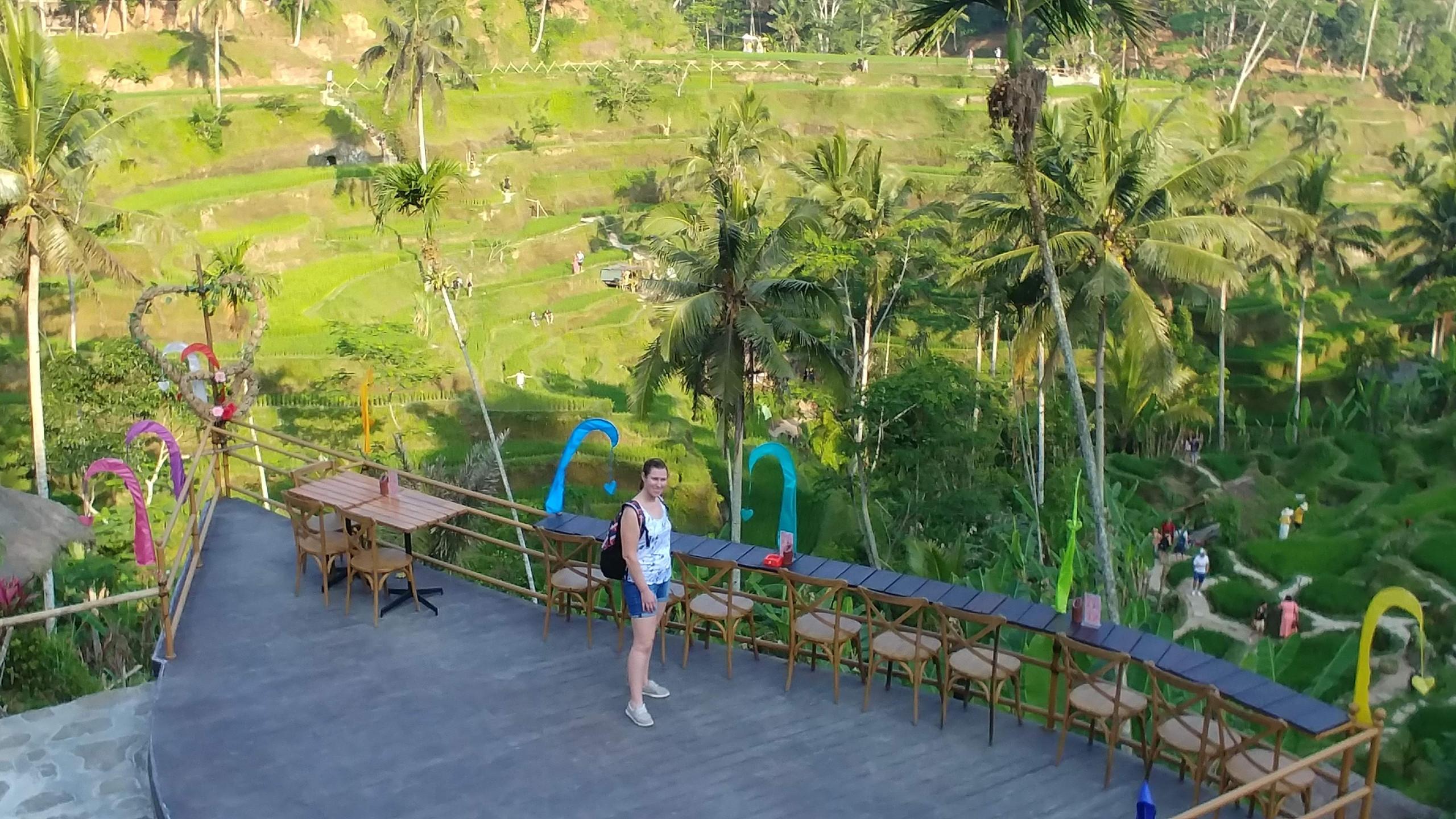 Elizah in the Rice Fields, Ubud