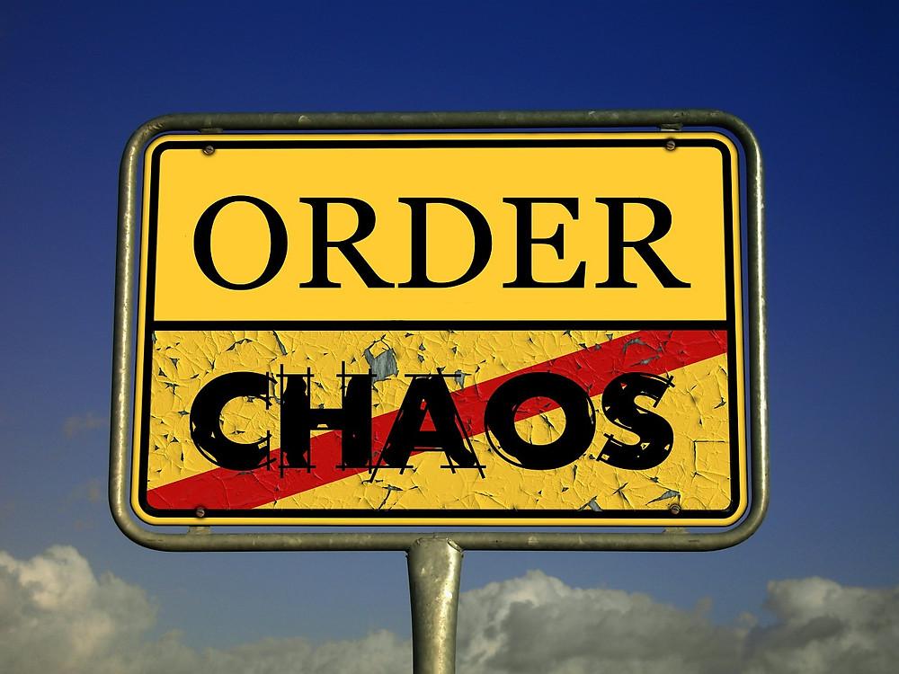 order over chaos sign clutter declutter mind
