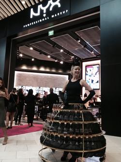 Branded Champagne Skirt