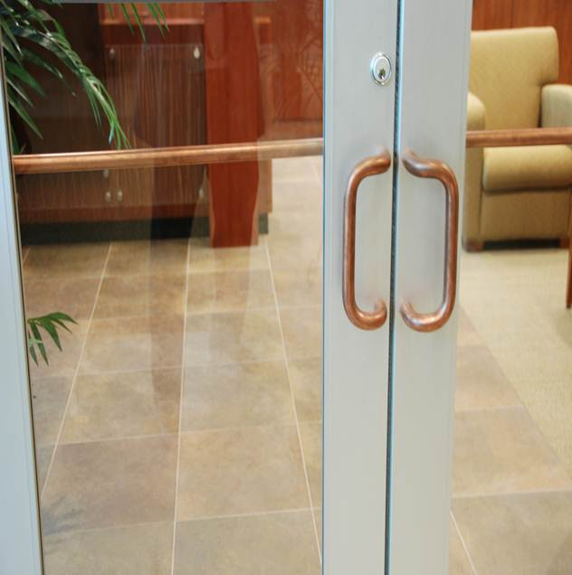 LUMINORE-COPPER-TOUCH-Installed-Door-Handles-and-Grab-Bars