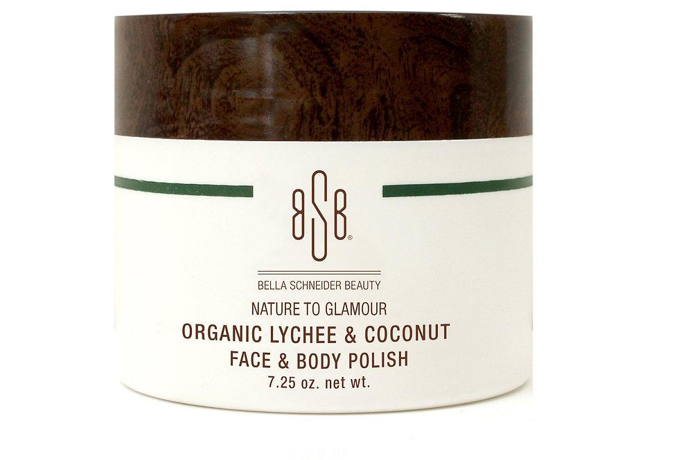 BSB Organic Lychee & Coconut Face & Body Polish