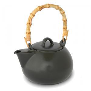 Bamboo Handle Teapot