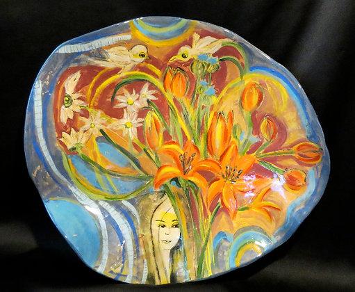 """Worlds Away Platter 15""""x16"""""""
