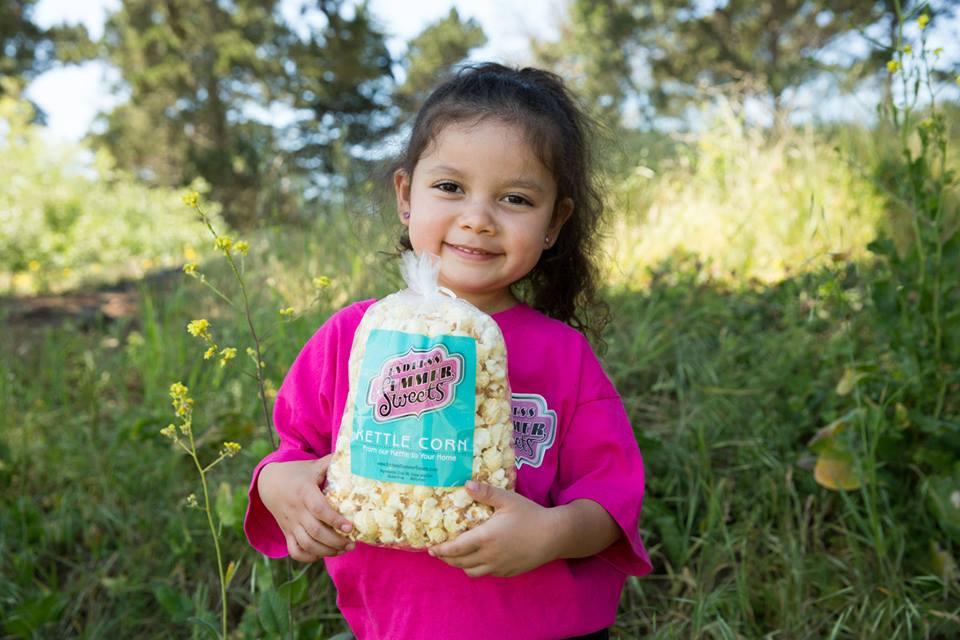 Audrina and popcorn