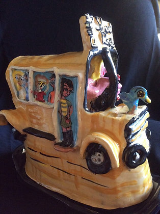 Magic School Bus Butter Dish Sculpture