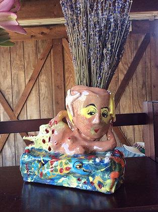 "Mermaid Vase 6"" x 5"""