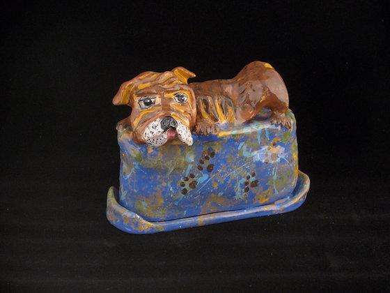 Bull Dog Butter Dish