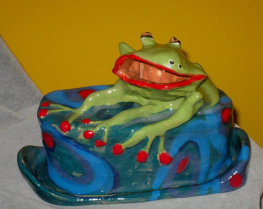 Frog Prince Butter Dish