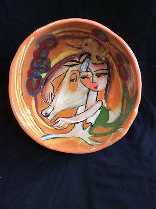 Mermaid Rides Her Horse Medium Bowl