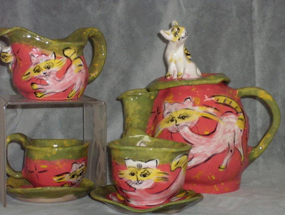 Cat Tea Set