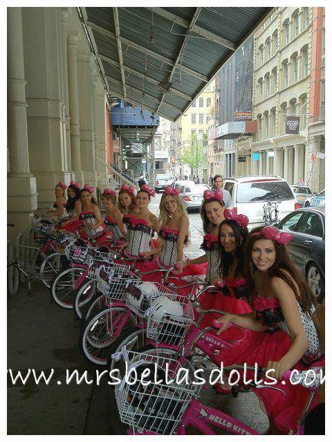 Dolls on Bikes!