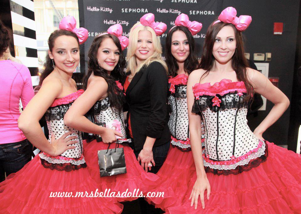 Megan Hilty with Bella's Dolls