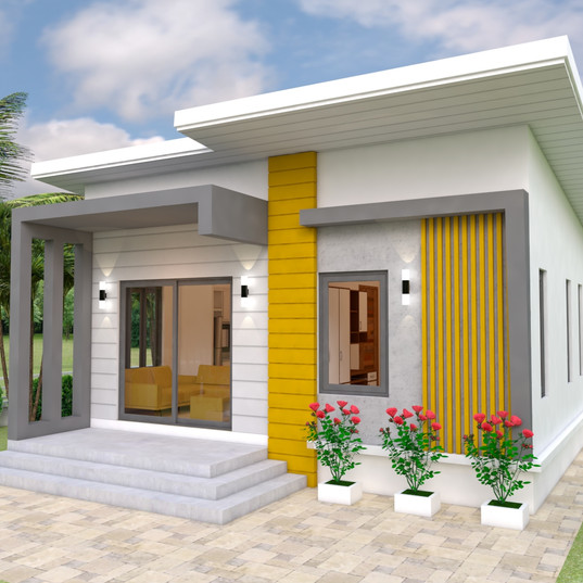Small-House-Design-Plans-7x12-with-2-Bed