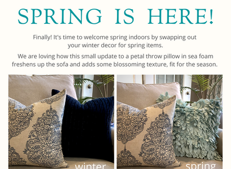 Take your home decor from Winter to Spring