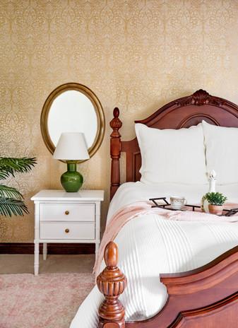 feminine owner's bedroom