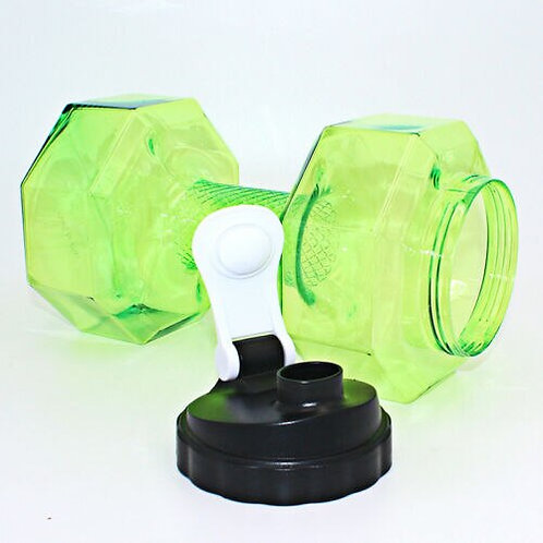 Large Water Bottle 2.2L  Dumbbell Shaped Sport Fitness Exercise Gym Shake Weight
