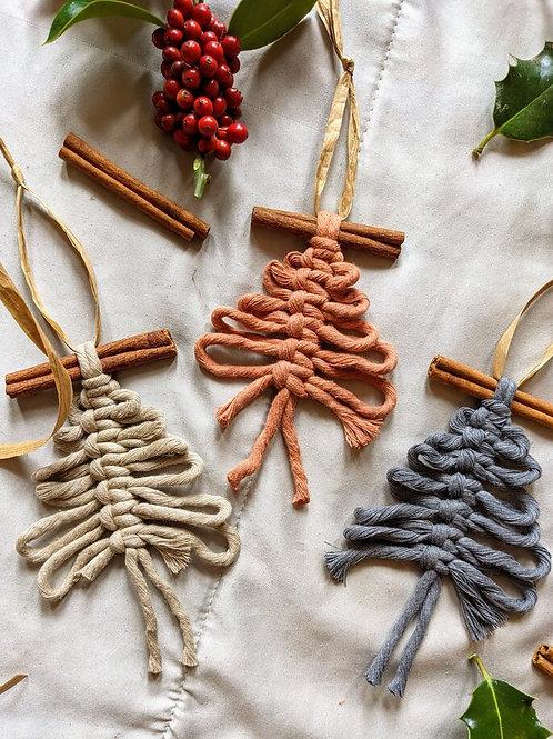 Macrame Christmas Tree Decoration Kit