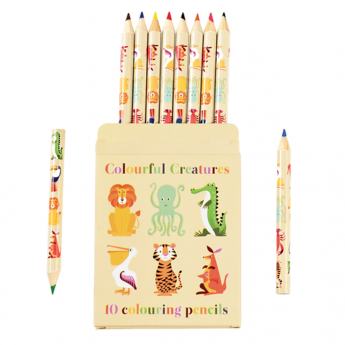 Animal Colouring Pencils (Set of 10)