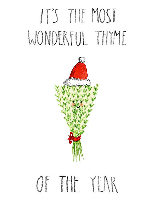 It's The Most Wonderful Thyme Christmas Card